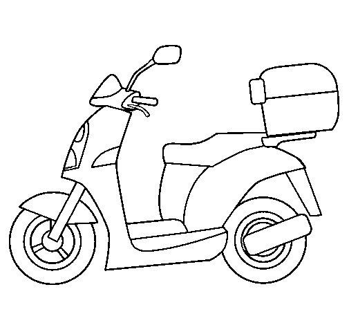 Desenho de Ciclomotor para Colorir