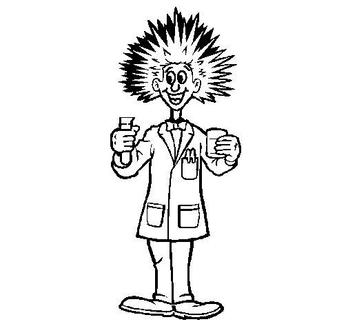 Desenho de Cientista louco para Colorir