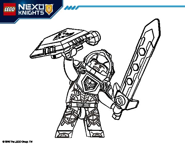 Desenho de Clay Nexo Knights para Colorir