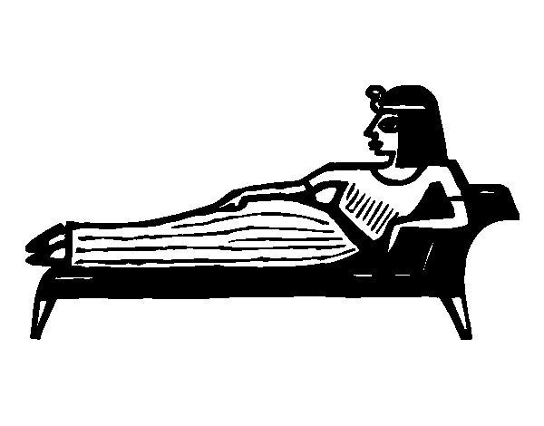 Desenho de Cleopatra caída para Colorir