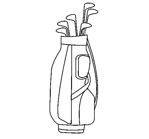 Desenho de Clube de golfe para Colorir