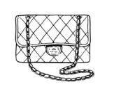 Desenho de Clutch Chanel para colorear