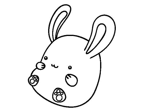 Desenho de Coelho bebê para Colorir