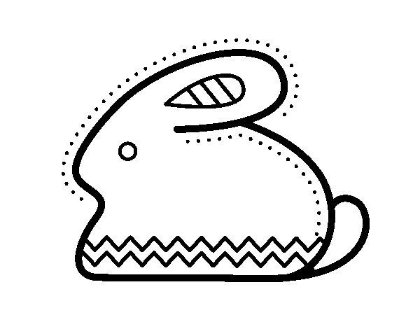 Desenho de Coelho da Páscoa laterais para Colorir