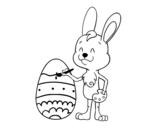 Desenho de Coloração de ovo de Páscoa para colorear