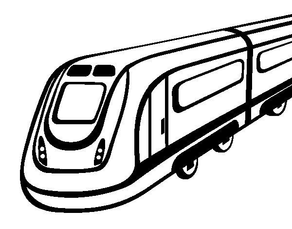 Desenho de Comboio de alta velocidade para Colorir