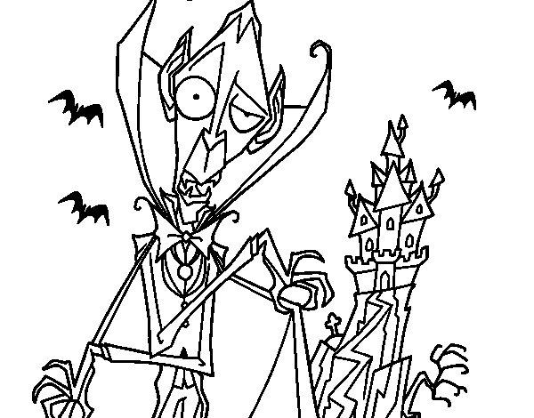 Desenho de Conde Drácula para Colorir