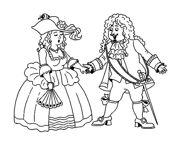 Desenho de Conde e condessa para Colorir