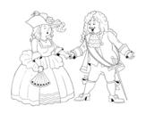 Desenho de Conde e condessa para colorear