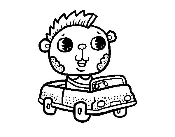 Desenho de Conduzir um carro descapotável para Colorir