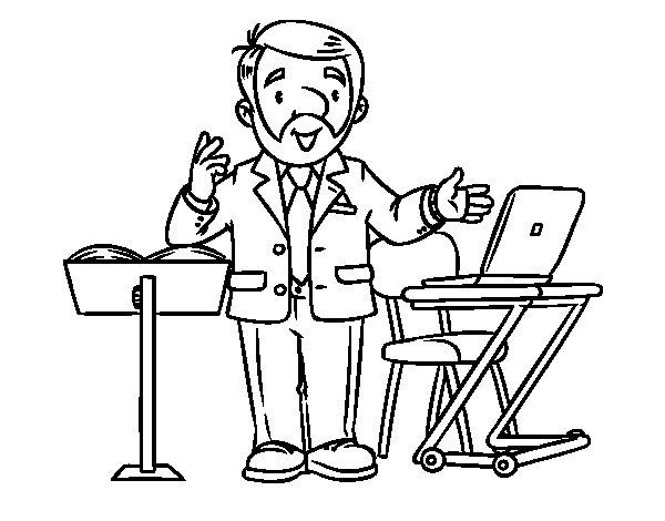 Desenho de Conferencista para Colorir