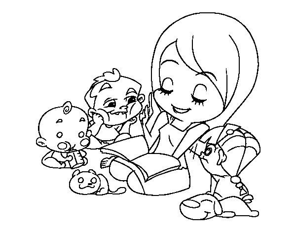 Desenho de Contador de histórias para Colorir