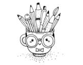 Desenho de Copo animado com lápis para colorear