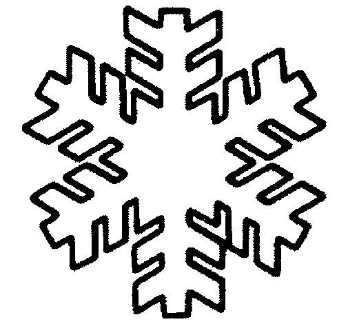 Desenho de Copo de neve para Colorir