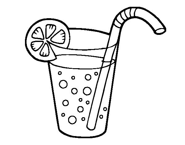 Desenho De Copo De Refrigerante Para Colorir