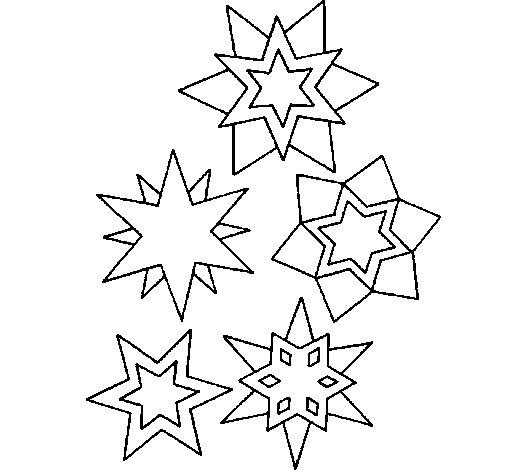 Desenho de Copos de neve para Colorir