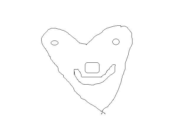 Desenho de Coração simpático para Colorir