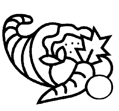 Desenho de Cornucópia para Colorir