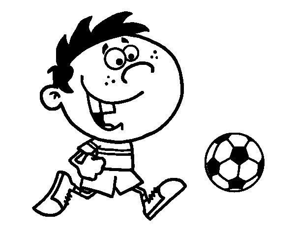 Desenho de Correndo com a bola para Colorir