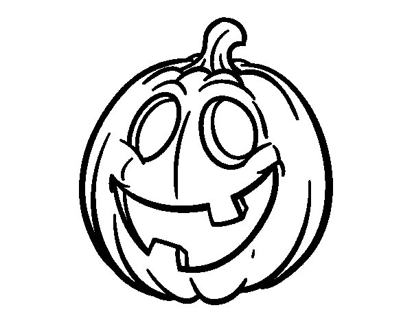 Desenho de Couve Halloween para Colorir