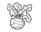 Desenho de Couve-rábano para colorear