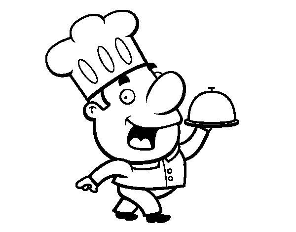 Desenho de Cozinhar engraçado para Colorir