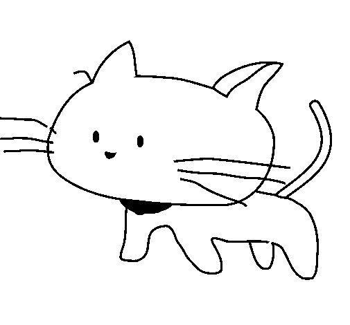 Desenho de Cria de gato para Colorir
