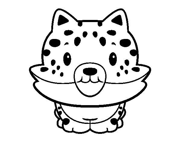 Desenho de Cria de guepardo para Colorir