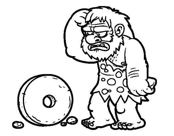 Desenho de Criação da roda para Colorir