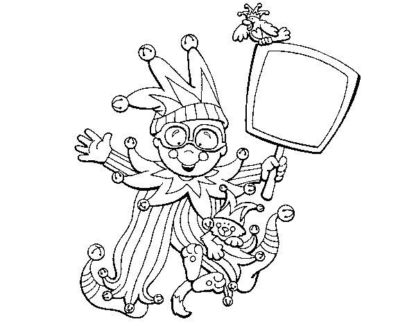 Desenho de Criança para carnaval para Colorir