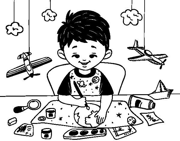 Desenho de Criatividade das crianças para Colorir