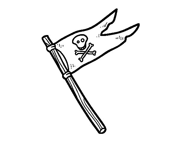 Desenho de Crossbones para Colorir