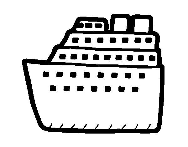 Desenho de Cruzador para Colorir