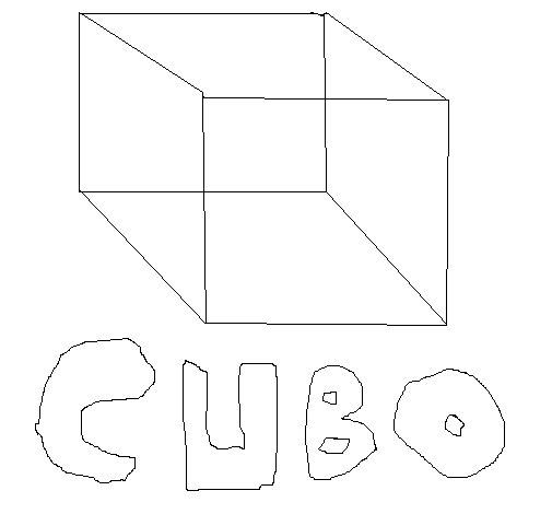 Desenho de Cubo para Colorir