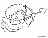 Desenho de Cupido  para colorear