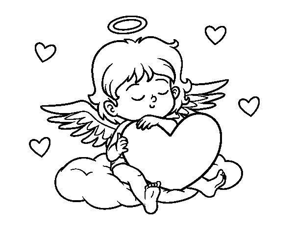 Corações Desenhos Para Colorir Colorir: Desenho De Cupido Com Coração Para Colorir