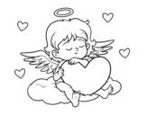 Dibujo de Cupido com coração