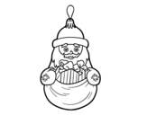 Desenho de Decoração de Natal Santa Claus para colorear