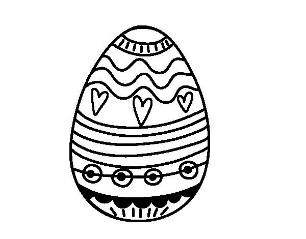 Desenho de Decoração de ovos de Páscoa para Colorir