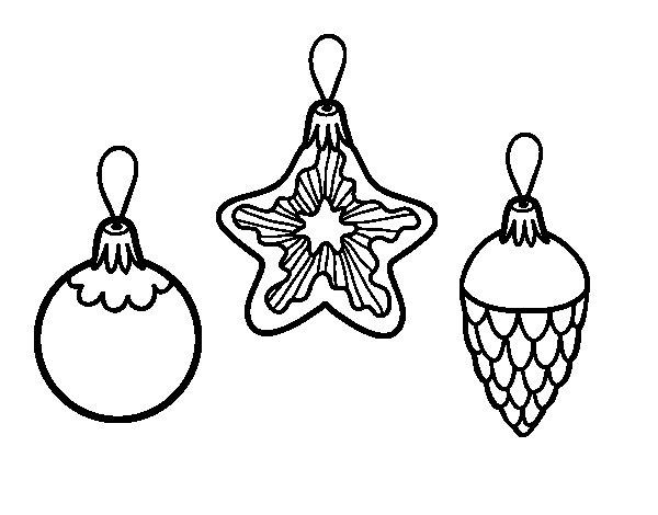 Desenho de Decoração para o Natal para Colorir