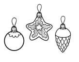 Desenho de Decoração para o Natal para colorear