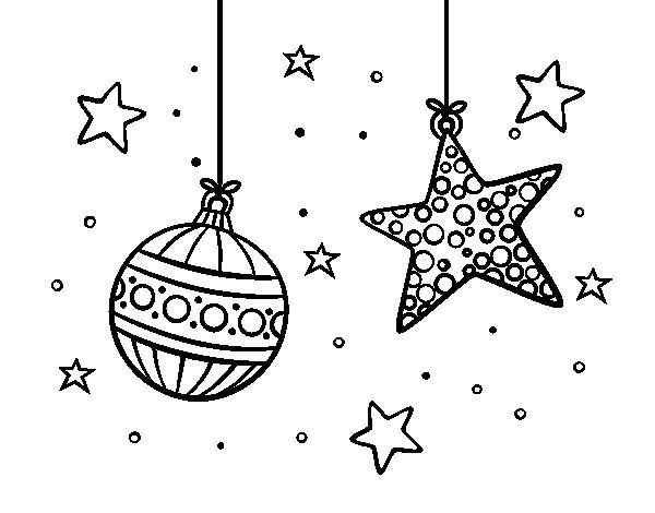 Desenho de  Decorações de Natal para Colorir