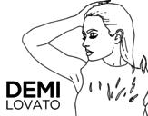 Desenho de Demi Lovato Confident para colorear