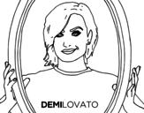 Desenho de Demi Lovato Popstar para colorear