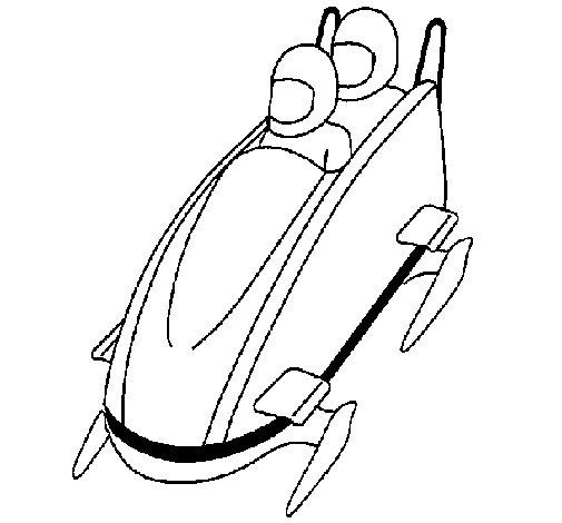 Desenho de Descida em trenó moderno para Colorir