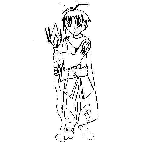 Desenho de Desenho manga para Colorir