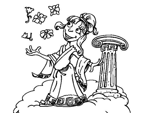 Desenho de Deusa Atena para Colorir