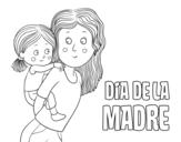 Desenho de Dia da Mãe para colorear