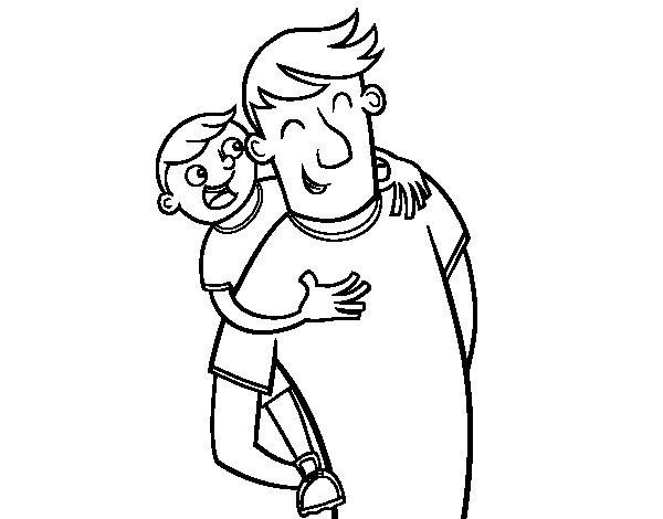 Desenho de Dia do pai para Colorir