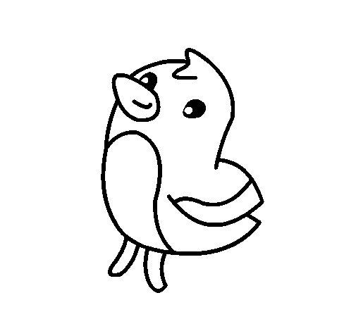 Desenho de Dibu o pinto para Colorir